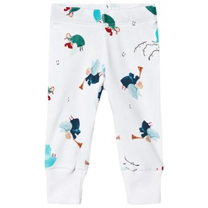 Anïve For The Minors White Angel Print Baby Leggings 1-2 mdr