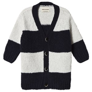 Bobo Choses Big Stripes Cardigan Egret 2-3 år