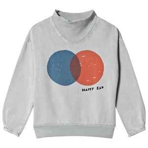 Bobo Choses Red and Blue Rib Collar Sweatshirt High-Rise 2-3 år