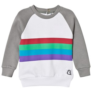 Boys & Girls Striped Crew Sweatshirt Grey 6-12 months