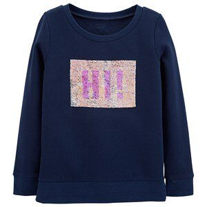 Carter's Flip Sequin Fleece Sweatshirt Navy 4-5 år