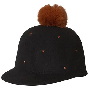 Catimini Black Felt Cap with Bronze Spots 56cm (12-14 years)