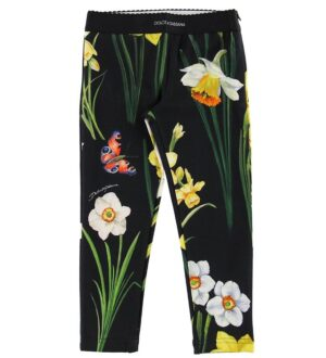 Dolce & Gabbana Leggings - Sort m. Blomster