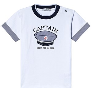 Dr Kid White and Navy Captian Hat Tee 3 years