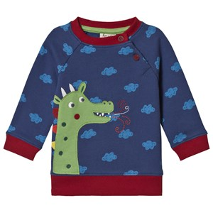 Frugi Dragon Cloud Sweatshirt Blue 0-3 months