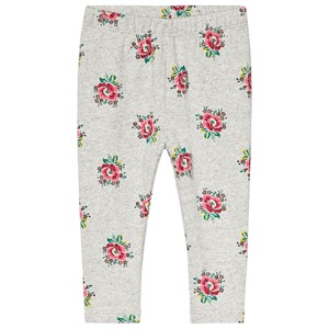 GAP Grey Floral Print Leggings 12-18 mdr