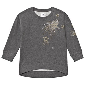 GAP Oversized Sweatshirt Heather Grey XS (4-5 år)