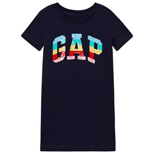 GAP Sequin Sweatshirt Dress Navy XS (4-5 år)