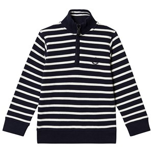 Henri Lloyd Stripe Zip Sweatshirt Navy 3-4 years