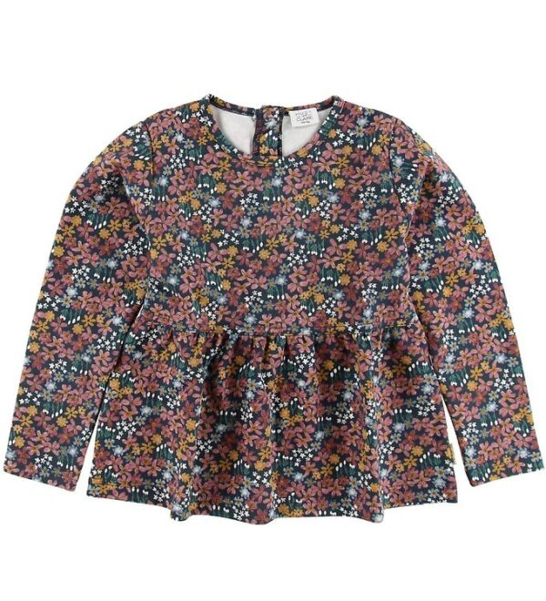 Hust and Claire Bluse - Alena - Navy m. Blomster