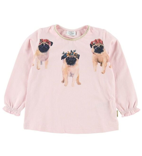 Hust and Claire Bluse - Ammy - Lyserød m. Mops