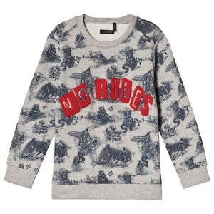 IKKS Grey No Rules Print Sweatshirt 4 years