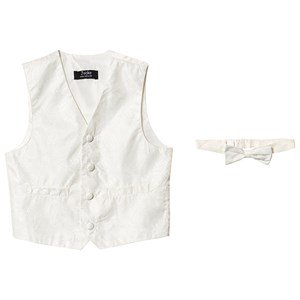 Jocko Noos Vest and Bow Tie Ivory 128 cm