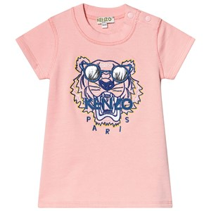 Kenzo Tiger Sweatshirt Dress Middle Pink 6 months