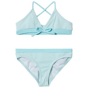 Melissa Odabash Blue with Aqua Trim Sky Triangle Bikini 6 years