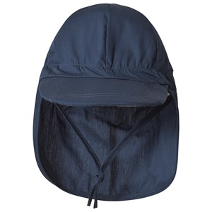 Melton Cap Neck Flap Solid Marine 45 cm