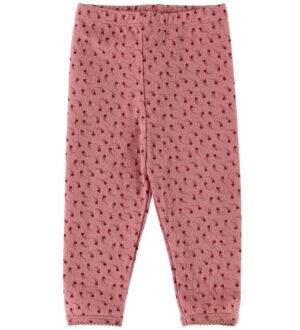 Noa Noa Miniature Leggings - Rosa m. Stjerneskud