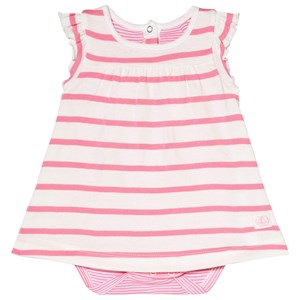 Petit Bateau Pink and White Striped Baby Body 1 Month