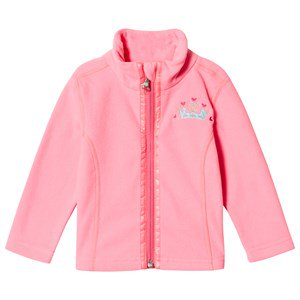 Poivre Blanc Micro Fleece Embroidered Mid Layer Punch Pink 18 months