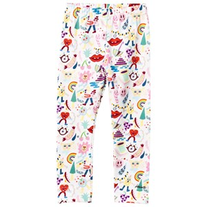 Simonetta Cartoon Print Leggings in White 2 years