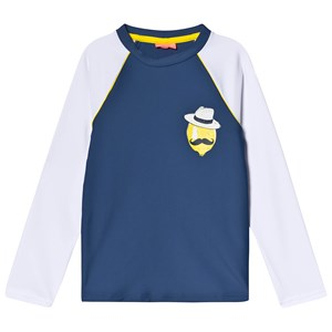 Sunuva Navy Sicilian Lemon Rash Vest 1-2 years