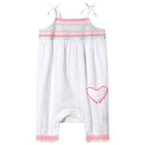 Sunuva White Smock Top Jumpsuit 3-6 months
