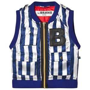 The BRAND B Vest Blue/White Stripe 80/86 cm