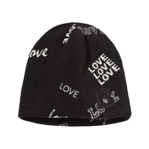 The BRAND Fleece Hat Black Love S/M (1-4 år)
