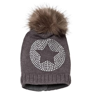 Ticket to heaven Bobble Hat Anthrazit Melange Grey 47 cm