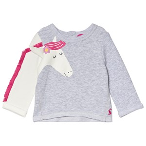 Tom Joule Grey Dash Unicorn Applique Sweatshirt 6-9 months