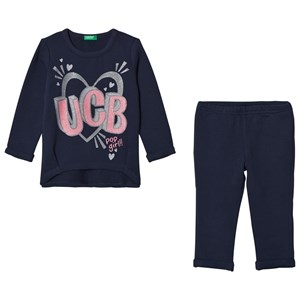 United Colors of Benetton Navy Sweatshirt and Pants Set 1Y (82cm)