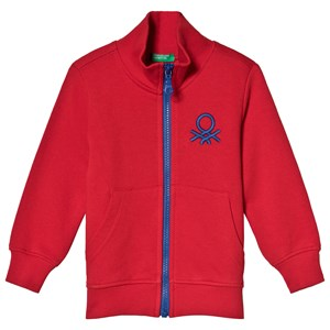 United Colors of Benetton Red Zip-Up Sweatshirt 1Y (82cm)