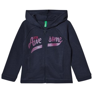 United Colors of Benetton Sweat Zip Hoodie With Sequins Navy 12-18 mdr