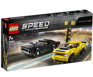 2018 Dodge Challenger SRT Demon og 1970 Dodge Charger R/T - 75893 - LEGO Speed Champions