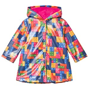 Agatha Ruiz de la Prada Multicolor Patchwork Print Raincoat 2 years