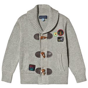 Andy & Evan Beige Toggle Applique Cardigan 2 years