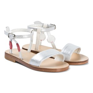Bonpoint White and Red Cherry Strap Sandals 36 (UK 3.5)