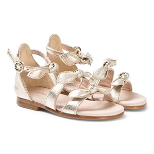 Chloé Gold Leather Bow Sandals 22 (UK 5)