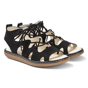 Clarks Black Lace Up Skylark Sandals 28 (UK 10)