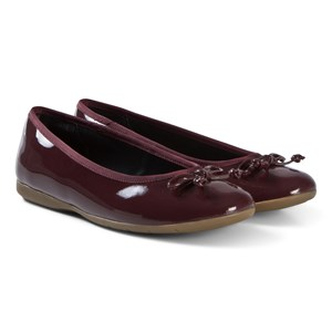 Clarks Jesse Shine Ballerina Shoes Red Patent Leather 37.5 (UK 4.5)