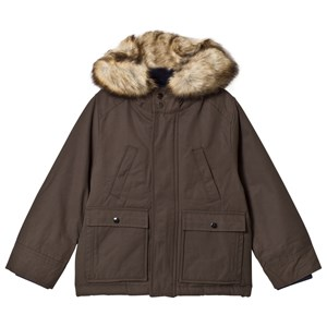 Cyrillus Olive Parka with Faux Fur Trim Hood 3 years