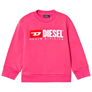 Diesel Pink Denim Division Logo Sweatshirt 8 years