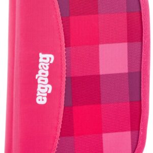 Ergobag Penalhus PrimBear Ballerina, Pink Purple Checks