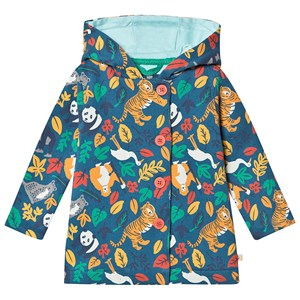 Frugi Cozy Button Up Jacket Steely Blue Endangered Hero 6-12 months