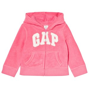 GAP Print Logo Hoodie in French Terry Light Pink 18-24 mdr