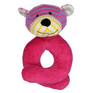 Geggamoja Bear Rattle Mixed Colors Pink One Size