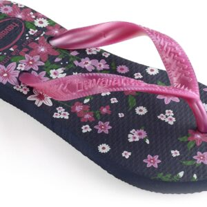 Havaianas Kids Flores Klipklapper, Navy/Lip Rose 29-30