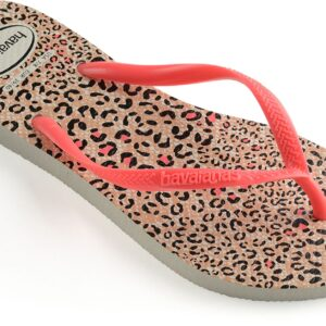 Havaianas Kids Slim Animals Klipklapper, White/Coral 27-28