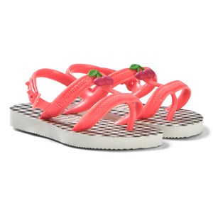 Havaianas Pink and Gingham Print Branded Sandals 33/34 (UK 13, BR 31/32)