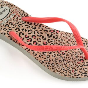 Havaianas Slim Animals Klipklapper, White/Coral 33-34